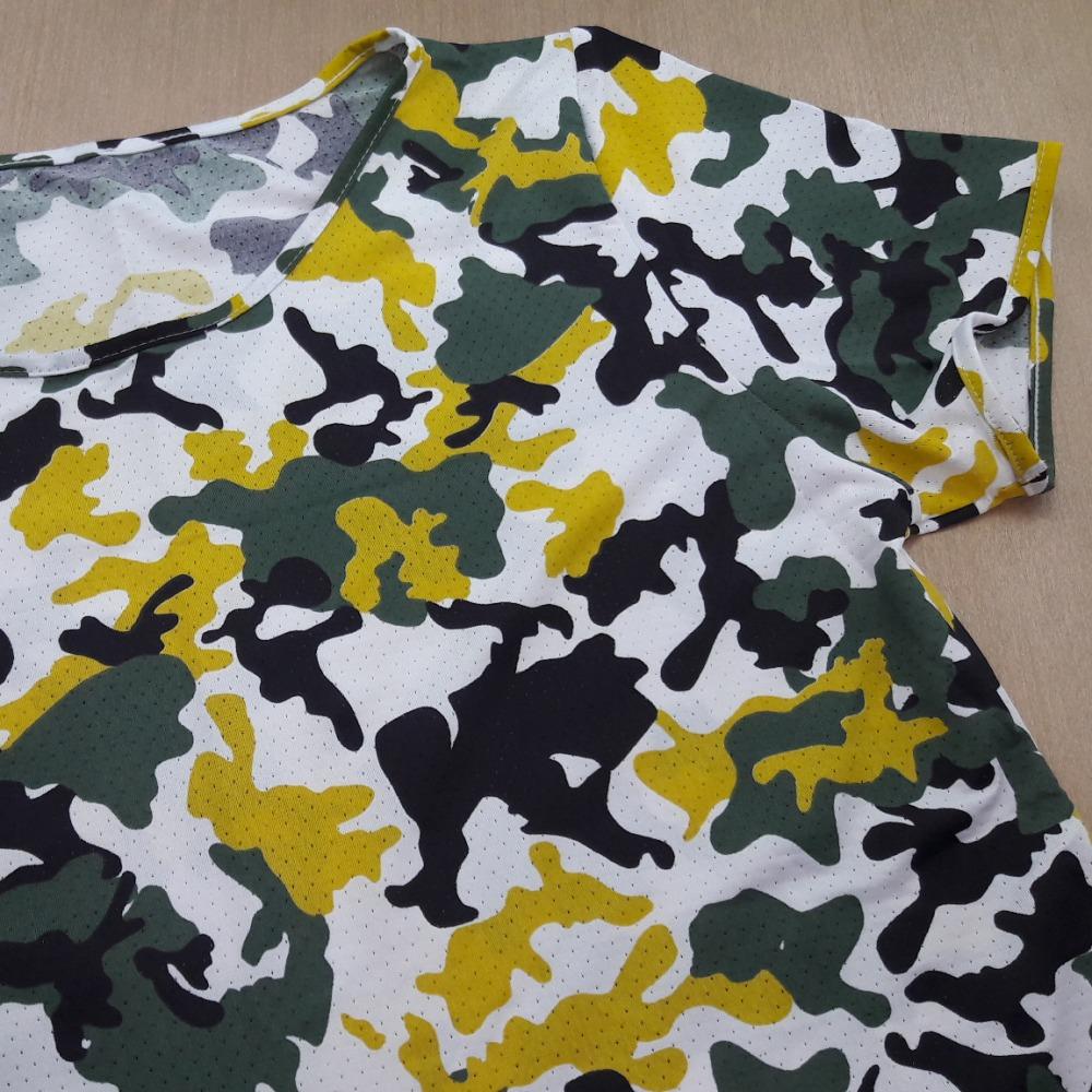 Camuflado Branco / Preto / Verde / Amarelo