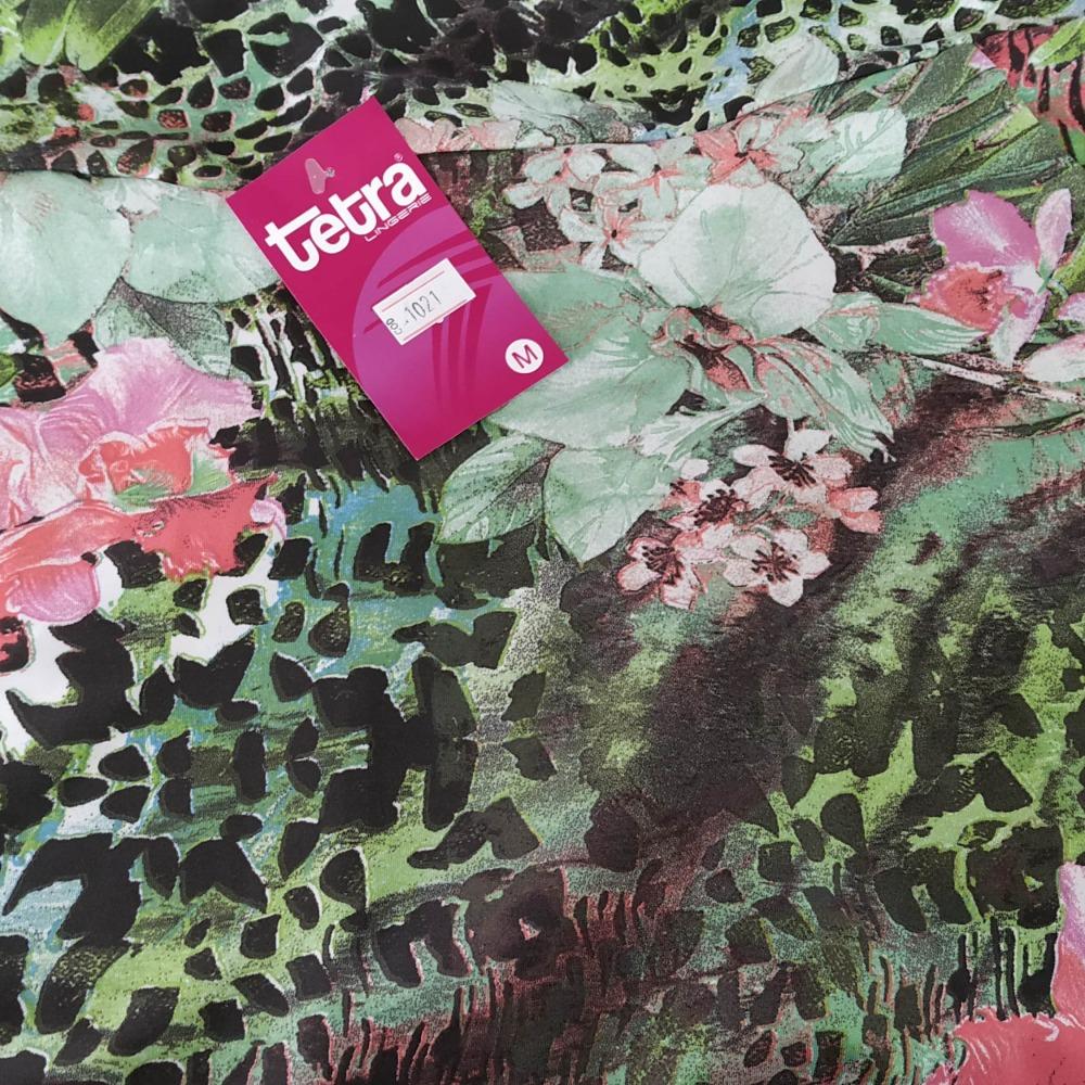 Estampa Floral e Onça