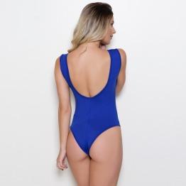 Body Básico Decote Azul Bic