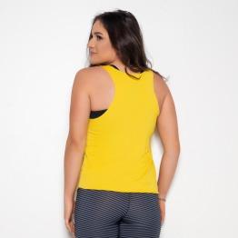 Camiseta Fitness Amarelo