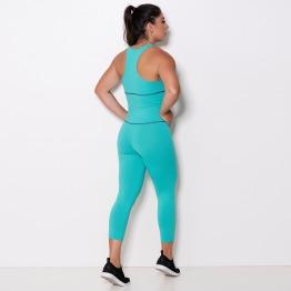 Macacão Legging Fitness em Suplex de Poliamida Verde