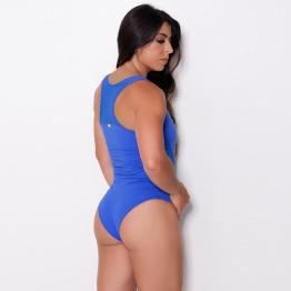 Body em Suplex de Poliamida UV Azul Bic