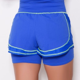 Short com Saia UV Azul